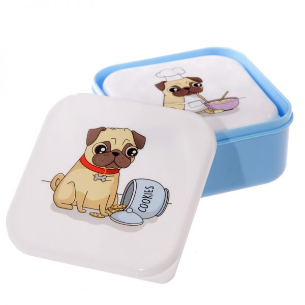 Pug Set of 3 Lunch Boxes-5716