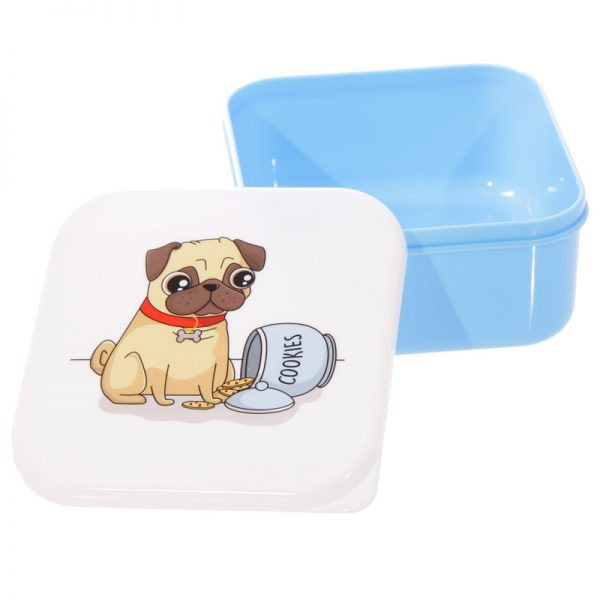 Pug Set of 3 Lunch Boxes-5718
