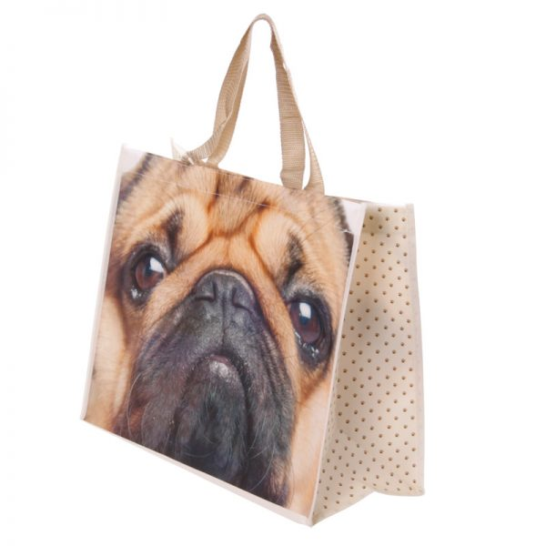 Pug Shopping Bag-0