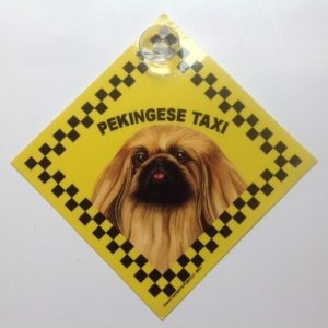 Pekingese (taxi) Suction Sign-0
