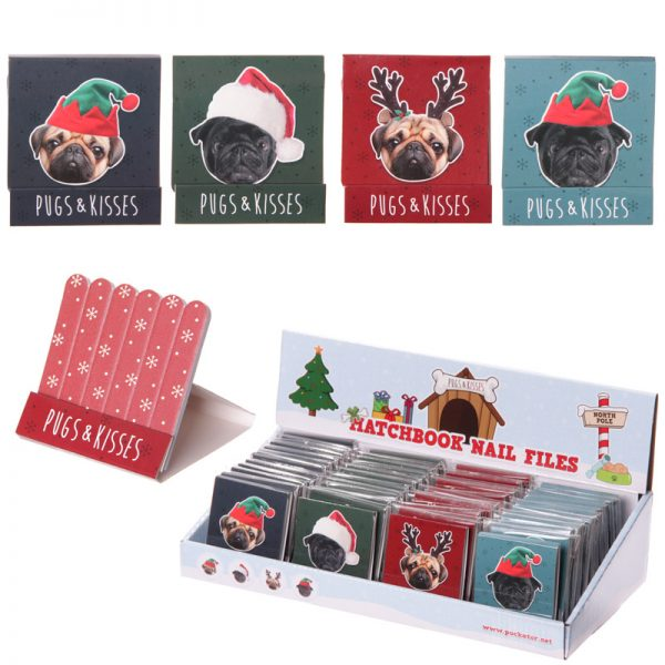 Pug Nail File in Matchbook-5659