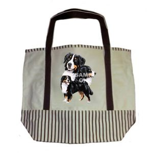 Bernese Mountain Dog Tote Bag-0