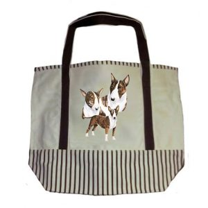 Bull Terrier Tote Bag-0