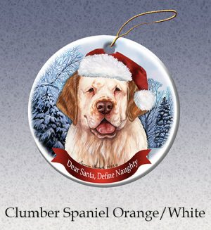 Clumber Spaniel Xmas Tree Decoration-0
