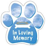 In Loving Memory - Paw Print Car Magnet-0