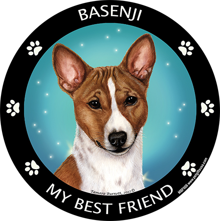Basenji My Best Friend Magnet-0