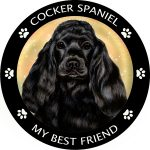 Cocker Spaniel My Best Friend Magnet (Black)-0