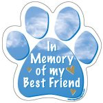 In Memory of My Best Friend – Paw Print Car Magnet-0