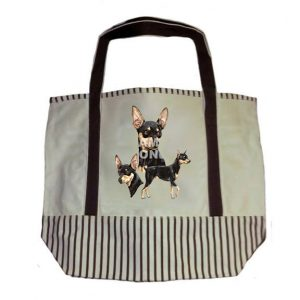 Miniature Pinscher Tote Bag-0