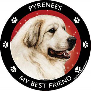 Pyrenean Mt Dog My Best Friend Magnet-0
