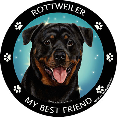Rottweiler My Best Friend Magnet-0