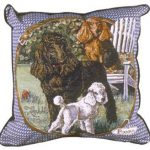 Poodle - Tapestry filled cushion-0