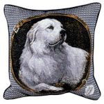 Pyrenean Mountain Dog - Tapestry filled cushion-0