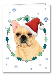 French Bulldog- Xmas  Card-0