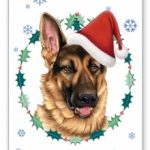German Shepherd- Xmas Card-0