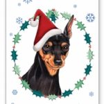 Miniature Pinscher- Xmas Card-0