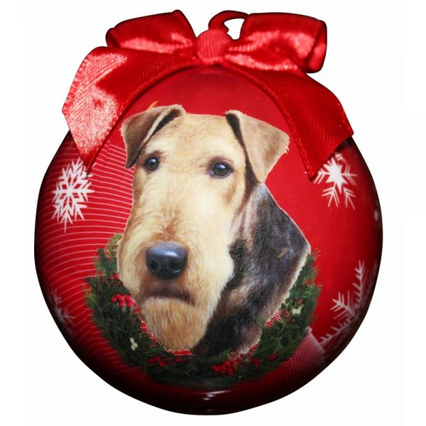 Airedale Terrier Christmas Bauble-0