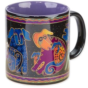 Laurel Burch Dog & Doggies Mug-0