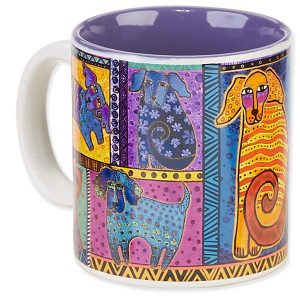 Laurel Burch Dog Tails Patchwork Mug-0