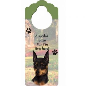 Miniature Pinscher Door Knob Sign-0