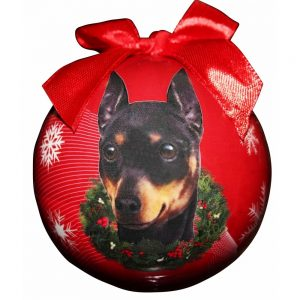 Miniature Pinscher Christmas Bauble-0