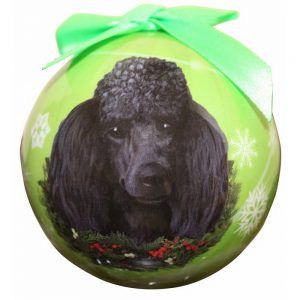 Poodle (Black) Christmas Bauble-0