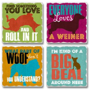 Doggies - Set of 4 Stone Coasters-0