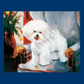 Bichon Frise- 6 pack Note Cards--0