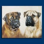 Bullmastiff – 6 pack Note Cards–0