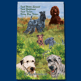 Irish Water Spaniel & Kerry Blue & Irish Wolfhound Deluxe Ink Pen-6562