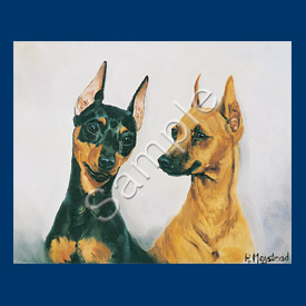 Miniature Pinscher 6 pack Note Cards-0