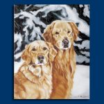 Golden Retriever- 6 pack Note Cards!-0