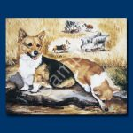 Welsh Corgi - 6 pack Note Cards!-0