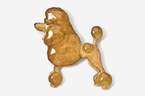 Poodle Hand Painted Pin- Apricot-0