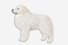 Pyrenean Mountain Dog Hand Painted Pin-0