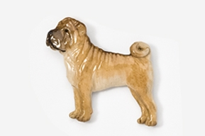 Shar Pei Hand Painted Pin-0