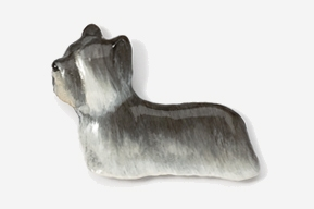 Skye Terrier Hand Painted Pin-0