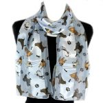 Multi Breed - Light Blue Satin Scarf-0