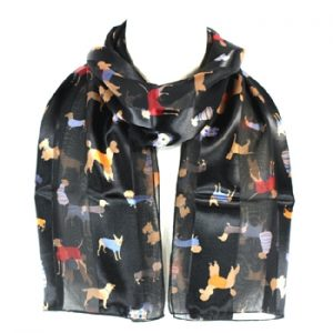 Multi Breed - Black Satin Scarf-0
