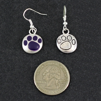 Paw Print Earrings- Purple-6658