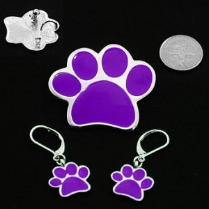 Paw Pendant /Brooch & Earrings-0
