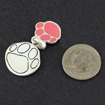 Paw Pendant & Matching Earrings – Pink-6655