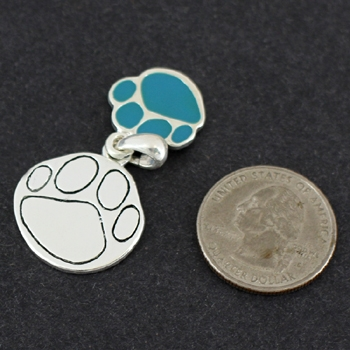 Paw Pendant & Matching Earrings-6652