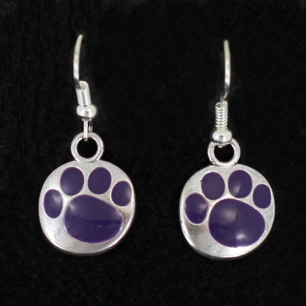 Paw Print Earrings- Purple-0