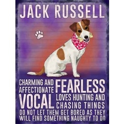 Jack Russell – Hanging Metal Sign-0