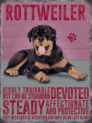 Rottweiler - Hanging Metal Sign-0