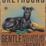 Greyhound (black) - Hanging Metal Sign-0