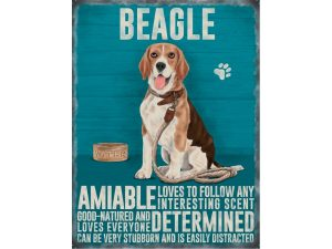 Beagle - Hanging Metal Sign-0