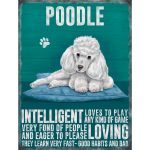 Poodle (white) – Hanging Metal Sign-0