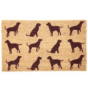 Dog Silhouitte Coir Door Mat-0